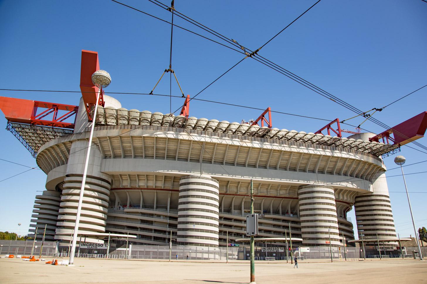 Het San Siro stadion in Milaan.
