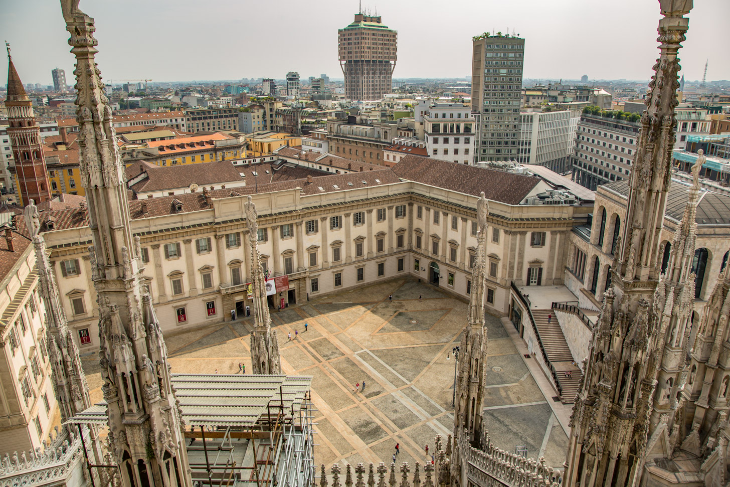 Uitzicht op de stad Milaan