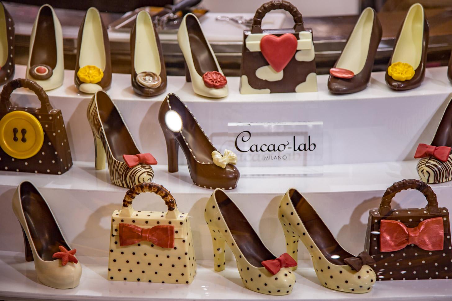 Schoenen en chocolade: een topcombinatie in Milaan.