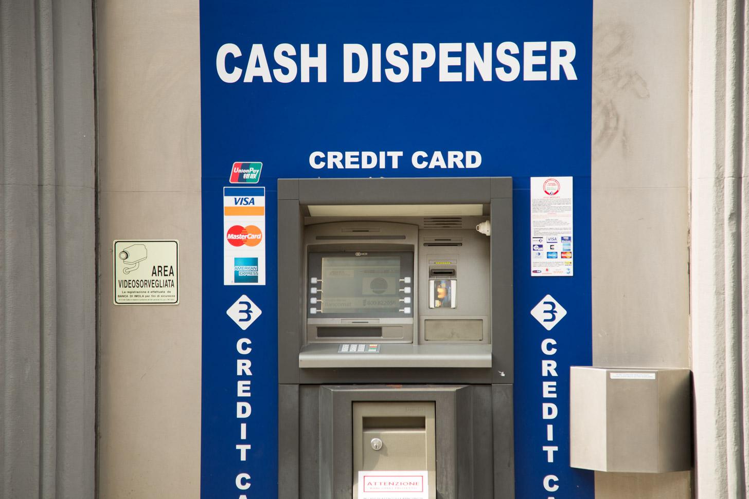 Geldautomaat in Milaan