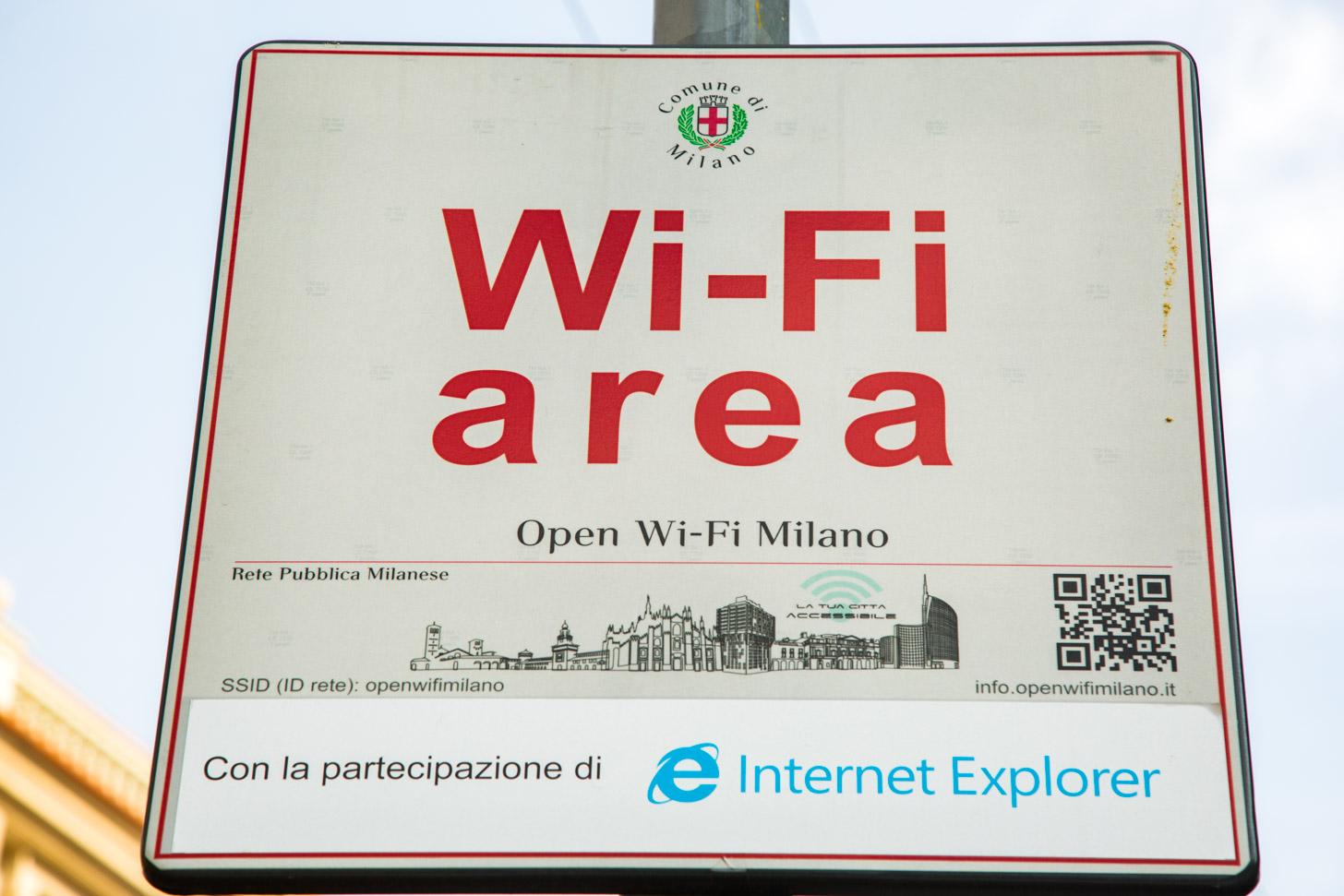 Gratis wi-fi in Milaan
