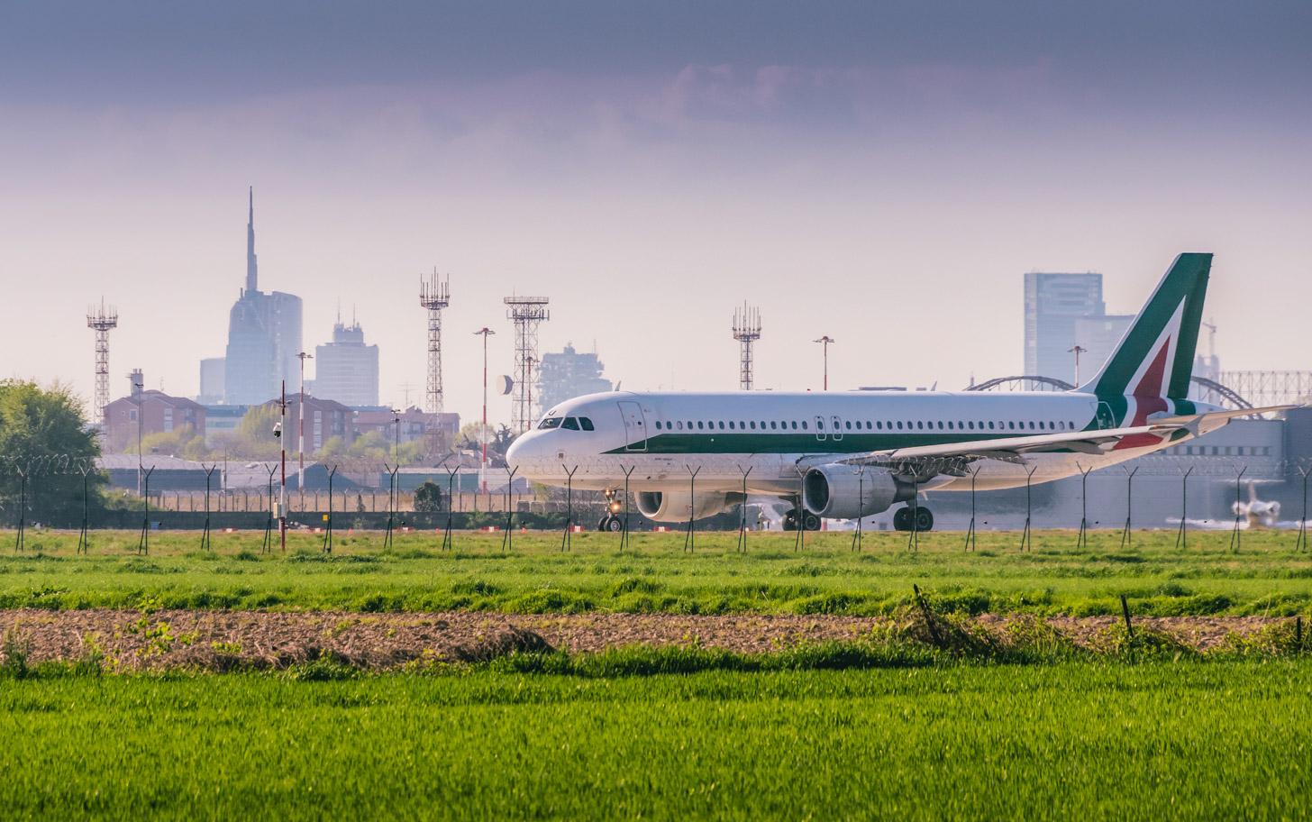 Met het vliegtuig naar Milaan