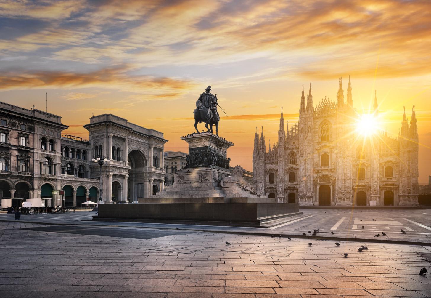 zon in Milaan